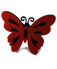 Sugarcart Felt Butterfly Scrunchies - Red Black
