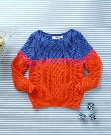 In.f Kids Casual Sweater - Orange & Blue