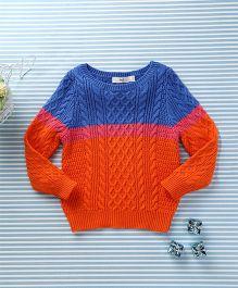 In.f Kids Casual Sweater - Orange & Blue