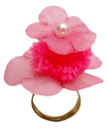 D'chica Chic Flower Ring For Girls - Pink