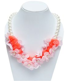 D'chica Chic Flower Necklace - Pink