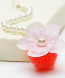 D'chica Stunning Flower Jewelry Maang Teeka - White