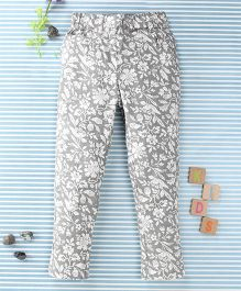 SPT Flower Print Pants - Grey
