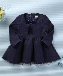 In.f Kids Dot Print Dress - Navy Blue