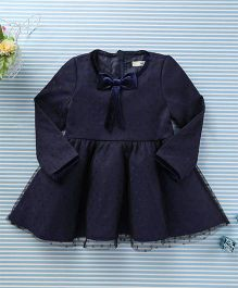In.f Kids Dot Print Dress - Navy Blue