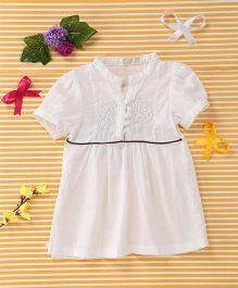 TBB Elegant Embroidered Dress - White