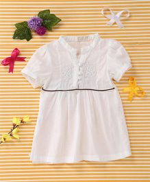 TBB Elegant Embroidered Dress - White