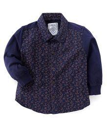 Gini & Jony Full Sleeves Shirt Paisley Print - Navy Blue
