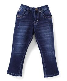 Palm Tree Full Length Jeans - Dark Blue