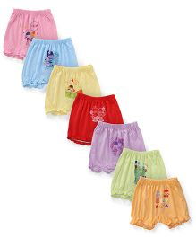 Simply Multi Printed Set Of 7 Bloomers - Multi Color