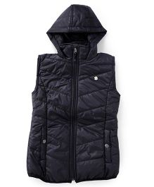 Gini & Jony Sleeveless Hooded Jacket - Black