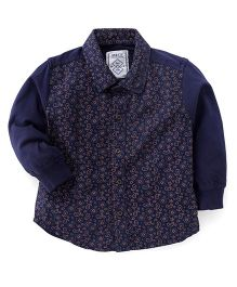 Gini & Jony Full Sleeves Shirt Paisley Print - Navy Blue