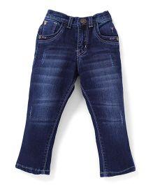 Palm Tree Full Length Jeans - Dark Blue