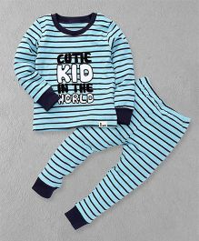 El Hogares Cute Kid In The World Tee & Pant Set - Blue