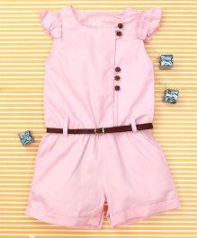 TBB Cap Sleeve Stylish Romper - Pink