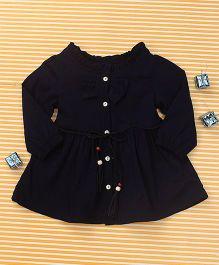 TBB Trendy Full Sleeve Dress - Navy Blue