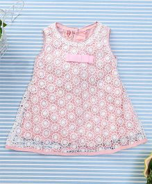 Sunny Baby Trendy Dress With Bow - Light Pink