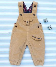 TBB Stylish Dungaree Suit - Brown