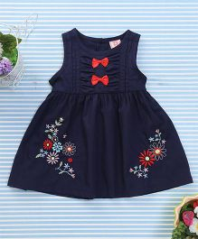 Sunny Baby Bow Print Dress - Navy Blue