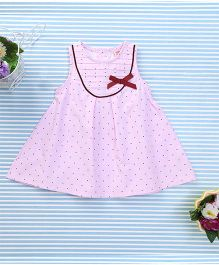 Sunny Baby Beautiful Dress With Bow - Pink