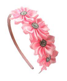 Little Miss Cuttie Floral Headband - Pink
