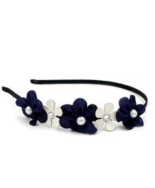 Little Miss Cuttie Floral Hair Band - Blue