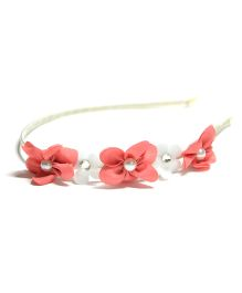 Little Miss Cuttie Floral Hair Band - Pink