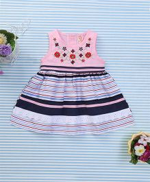 Sunny Baby Floral Print Dress - Multicolor & Pink