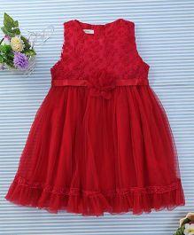 Amigo 7 Seven Floral Party Dress - Red
