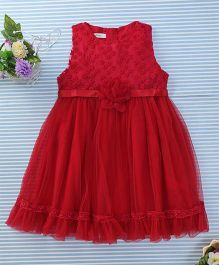 Amigo 7 Seven Floral Party Dress - Red