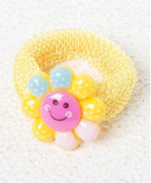 Treasure Trove Sunflower Smiley Rubber Band - Yellow