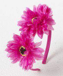 Treasure Trove Double Flower Hairband - Magenta