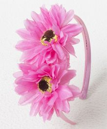 Treasure Trove Double Flower Hairband - Baby Pink