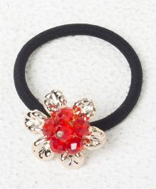 Treasure Trove Pony Crystal Flower Rubber Band - Red