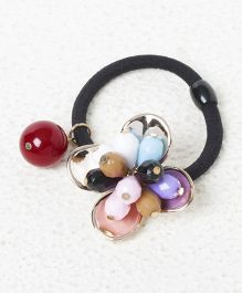 Treasure Trove Crystal Flower With Pearl Rubber Band - Multicolour