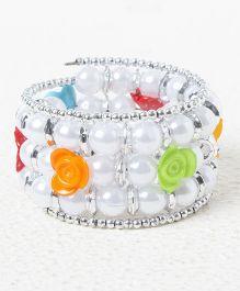 Treasure Trove Rose And Pearls Bracelet - Multicolour
