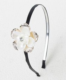 Treasure Trove Tiny Flower Everyday Hair Band - White