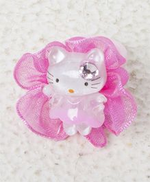 Treasure Trove Kitty Finger Ring - Baby Pink