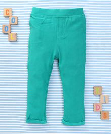 Bee Born Solid Color Jeggings - Green