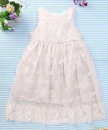 Amigo 7 Seven Net Embroidered Dress - Off White