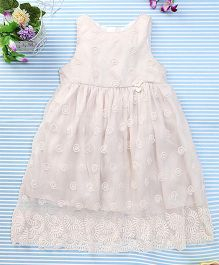 Amigo 7 Seven Net Embroidered Dress - Off White