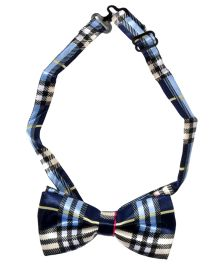 Miss Diva Superstar Big Check Printed Bow - Multicolor