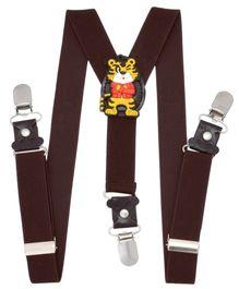Miss Diva My Tiger Patch Suspender - Brown