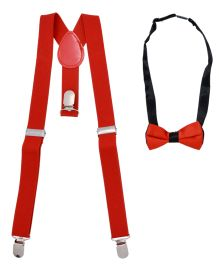 Miss Diva Rocking Suspender With Bow Set - Red