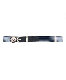 Miss Diva Stripes Belt - Navy Blue & White