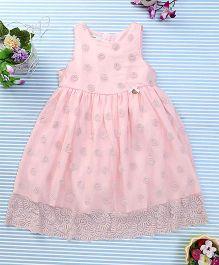 Amigo 7 Seven Embroidered Net Dress - Pink