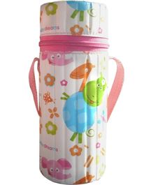 Morisons Baby Dreams Insulated Bottle Cover Pink - Fits 250 ml Bottle