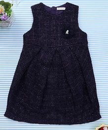 Amigo 7 Seven Flower Applique Dress - Navy Blue