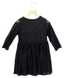 Whitehenz Clothing Lacy Doll Dress - Black