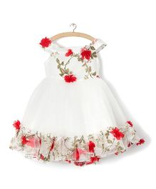 Whitehenz Clothing Rossette Tutu Dress - Red